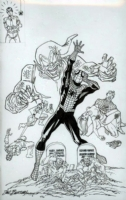 The many nightmares of Spider-man - Custom blank - Sal Buscema, Comic Art
