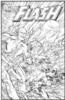 Flash #97 Cover Homage Comic Art
