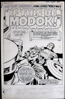 TALES OF SUSPENSE 94, page 1 title splash by Jack Kirby Comic Art