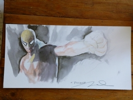 Parel Gerald Iron Fist Commission Comic Art