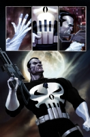 Punisher War Journal #1, Pg 22 By Ariel Olivetti - Colored Comic Art