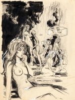 FOREST - 1960 Illustration art inscribed to Forry Ackerman Comic Art