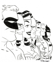 Batman & the JLA by Darwyn Cooke Comic Art