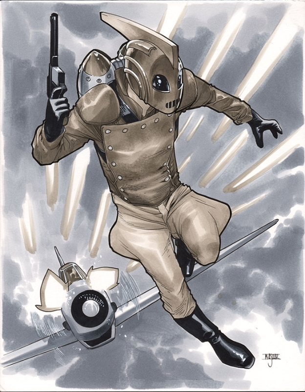 Rocketeer Comic Art