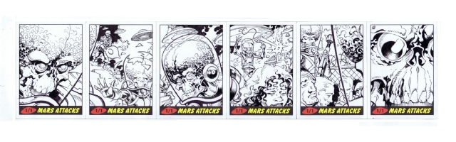 Mars Attacks cards Comic Art
