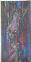 KELLY FREAS original art, IN the BONDS of DEATH Painting - 1987, 14x30, Signed, on masonite Comic Art