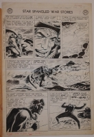 JOE KUBERT original art, STAR SPANGLED WAR STORIES #57 pg 7,14x 21,1957, Frogman Comic Art