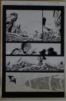 PHILIP TAN / JEFF Jeff De Los SANTOS original art, GODSLAYER #6 pg 17, 11 x 17  Comic Art