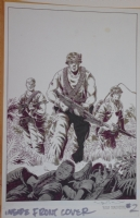 WAYNE VANSANT original art,NAM #2 inside front cover,1988,11 x17 ,Vietnam,Signed Comic Art