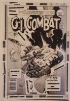 GI COMBAT #199 original transparency cover art, Joe Kubert, Haunted Tank, WWII Comic Art