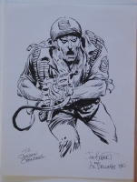 JOE KUBERT original art, Signed, SGT ROCK in battle fury, 8.5 x11 , 1980, Sketch Comic Art