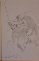 DICK GIORDANO original art, BATMAN Sketch, 7 x10 , signed, more in store Comic Art