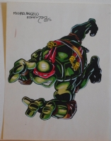 KEVIN EASTMAN original art, TEENAGE MUTANT NINJA TURTLES, 1985, 11 x17 , TMNT Comic Art