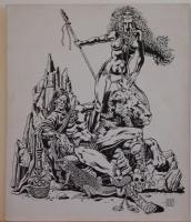 PAUL GULACY original art, BARBARIAN w/ NUDE Warrior woman, Signed, 10x12, board Comic Art