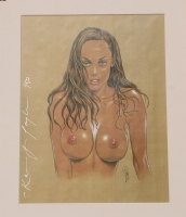 KEVIN TAYLOR signed print, GIRL, #1 of only 50, Limited, 1999,#1,matted on board Comic Art