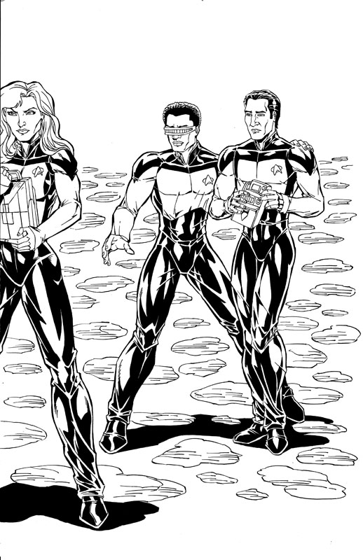 TG Sangalang - Star Trek commission 2010 Comic Art
