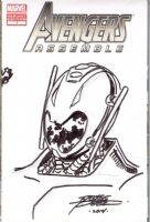 ULTRON SKETCH COVER GEORGE PEREZ SIGNED!, Comic Art