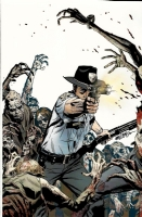 WALKING DEAD tv show PRINT Michael Golden SIGNED with COA!  zombies Inkwell Awards, Comic Art