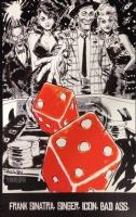 FRANK SINATRA SAMMY DAVIS JR. PRINT DAN PANOSIAN SIGNED!, Comic Art