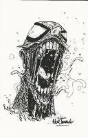 MARVEL COMICS ZOMBIE SPIDER-MAN PRINT ALEX CORMACK SIGNED!, Comic Art
