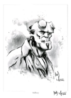 HELLBOY PRINT SIGNED BY DAVID WACHTER! Comic Art
