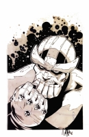MARVEL COMICS THANOS PRINT MICHAEL OPPENHEIMER SIGNED!, Comic Art