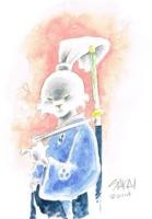 USAGI YOJIMBO ORIGINAL WATERCOLOR ART STAN SAKAI SIGNED!, Comic Art