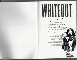 WHITEOUT TPB BOOK STEVE LIEBER SKETCH & SIGNED!  Inkwell Awards, Comic Art