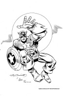 Captain America inked by Charles Barnett III Comic Art