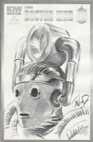 DR. WHO SKETCH COVER INK WASHED J.K. WOODWARD SIGNED! Comic Art