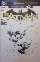 BATMAN ROBIN ORIGINAL INKED ART SKETCH COVER CHARLES PAUL WILSON III SIGNED, Comic Art