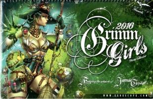 2016 Grimm Girls Pin-up Calendar by Jamie Tyndall, Comic Art