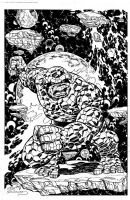 The Thing inked by Charles Barnett III Comic Art