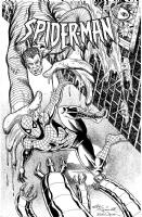 Spider-Man inked by Bob Wiacek, Comic Art