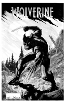 Wolverine inked by Neil Vokes, Comic Art