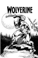 Wolverine inked by Charles Barnett III Comic Art