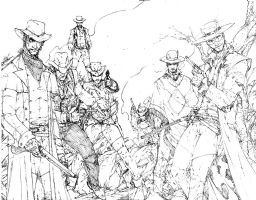 Marvel and DC Western Characters by Brett Booth, Comic Art