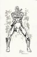 Marvel Comics Deathlok original inked art Rich Buckler Joe Sinnott COA signed!, Comic Art
