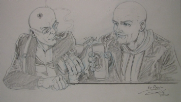Darick Robertson - Transmetropolitan & The Boys Crossover! Comic Art