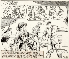 The Birthday Collection - 1938 - Tailspin Tommy featuring pirates (!) by Hal Forrest Comic Art