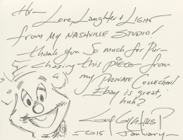Fozzie Bear (Jim Henson's Muppets) Thank-you note by Guy Gilchrist, Comic Art