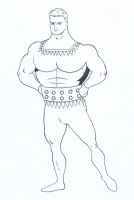 Stardust (Fletcher Hanks) inks by Rusty Gilligan (I), Comic Art