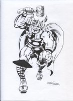 ROYER, MIKE / based on JACK KIRBY pencils - Thor Comic Art