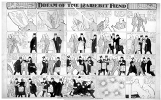 McCAY, WINSOR- Dreams of Rarebit Fiend 1908 (Uncle Sam, Roosevelt, Taft, Bryan) Comic Art
