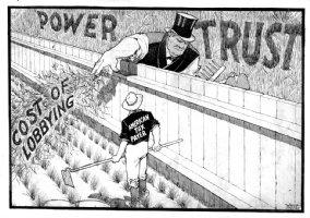 McCAY, WINSOR - Power Trust / Lobbying Editorial Cartoon, New American, 1907 Comic Art