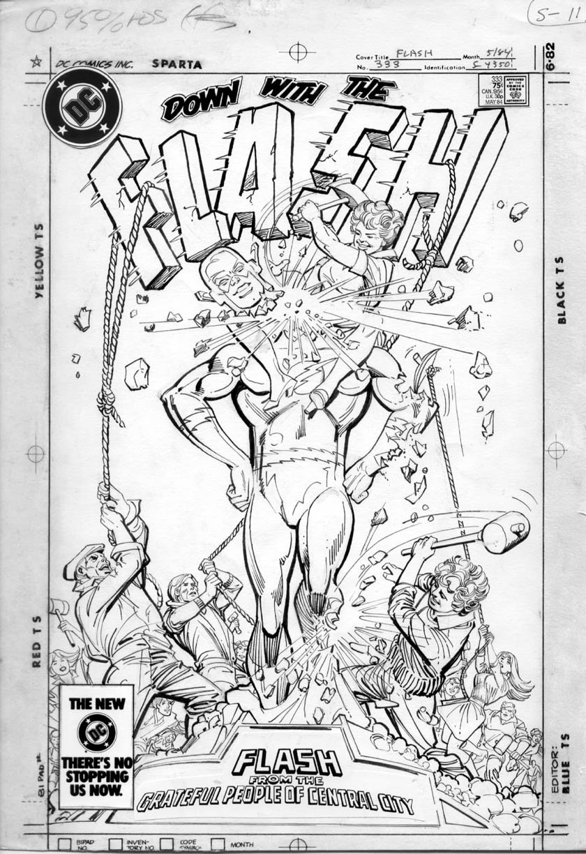 INFANTINO, CARMINE - Flash #333 cover Comic Art