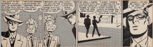 COLE, JACK with GIL FOX inks - Eisner's Spirit Daily 1943 Comic Art