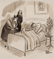 ADDAMS, CHARLES - New Yorker Magazine cartoon 1937, Poor Eustace Comic Art