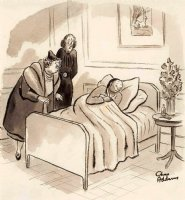 ADDAMS, CHARLES - New Yorker Magazine cartoon - May 1937, Poor Eustace (turns Asian) Comic Art