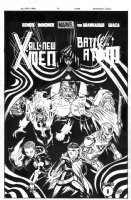 McGUINNESS, ED / VINES inks - All New X-Men #17 cover, Future X-Men, Colossus Iceman Wolverine Phoenix + Comic Art